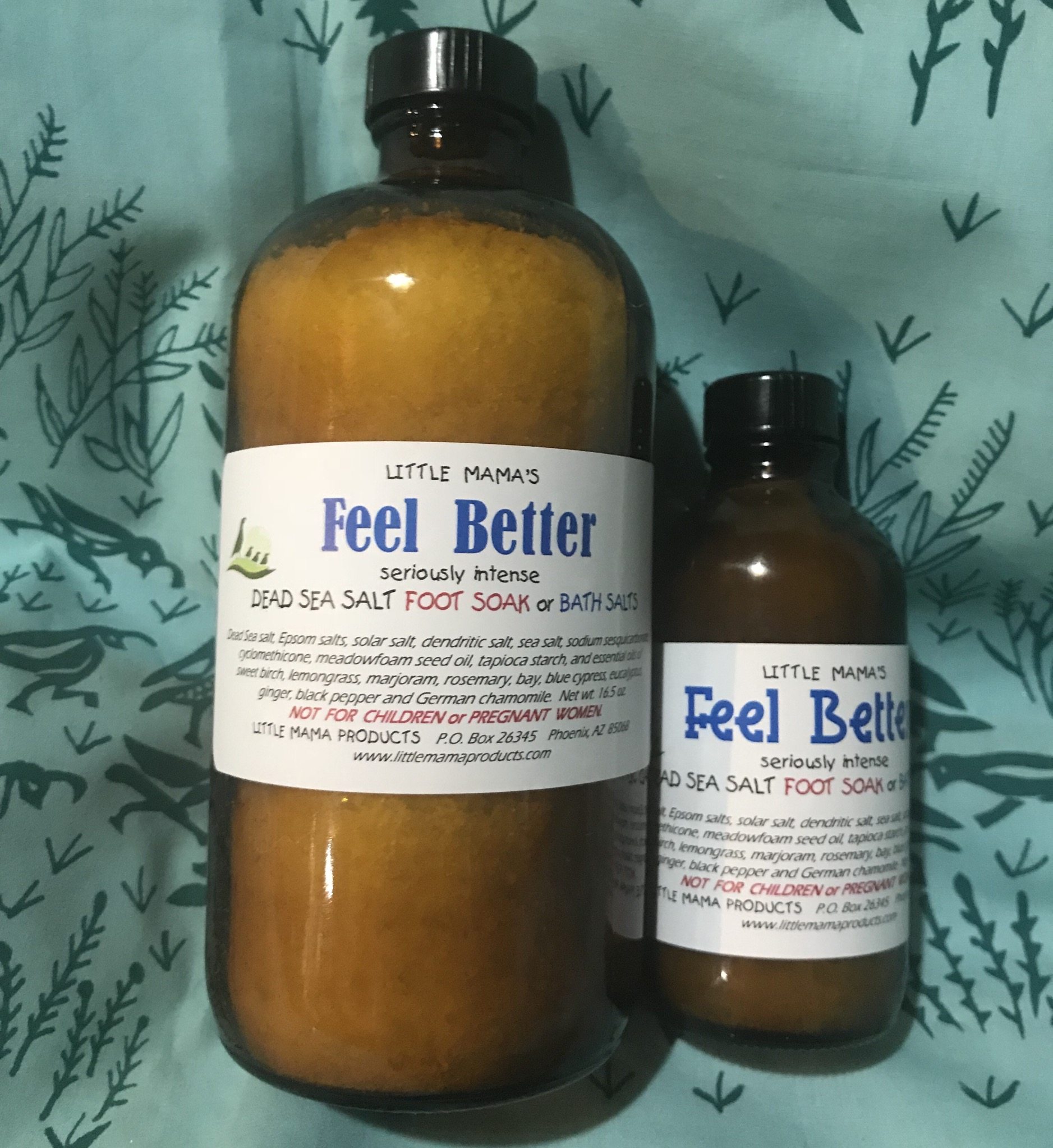"""Feel Better"" Dead Sea Salt Bath Soak - large"