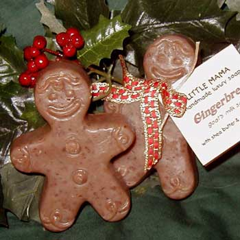 Gingerbread Boy Seasonal Soap